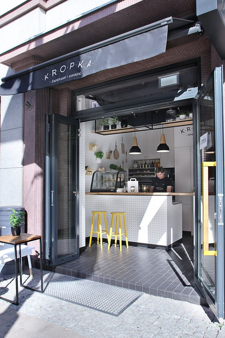 Get Up Close And Personal Over A Toasted Baguette At Compact Polish Snack Bar Coffee Shop Interior Design Coffee Shops Interior Cafe Interior Design