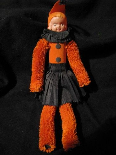 VINTAGE HALLOWEEN CELLULOID CREPE PAPER DOLL | eBay