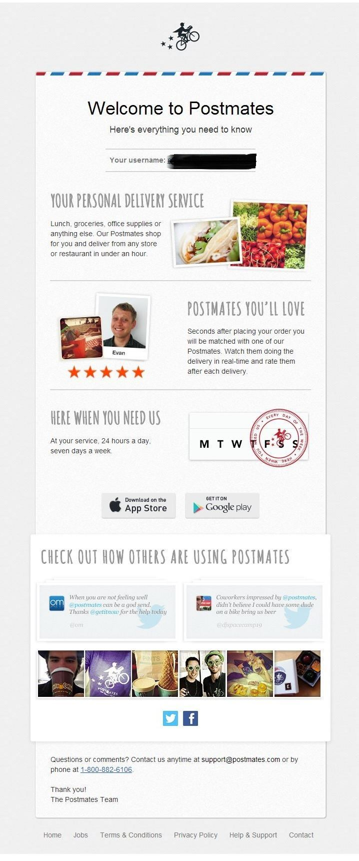 Postmates (With images) Email design, Postmates