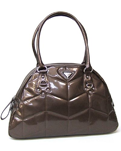 **WEEKEND FEATURED ITEM**  AP-5804 15(L)-X10(H)X4(D) $45.00  AVAIL IN BLACK  GLEAMING & GLAMOROUS BAG MADE OF LUSTROUS FAUX PATENT LEATHER  SATCHEL BAG  CHEVRON QUILTED PATTERN  SILVERTONE HARDWARE  DOUBLE SHOULDER STRAPS  Email harmaney78@gmail.com to place an order. Payment accepted through Paypal. Up to 14 business days for shipping.