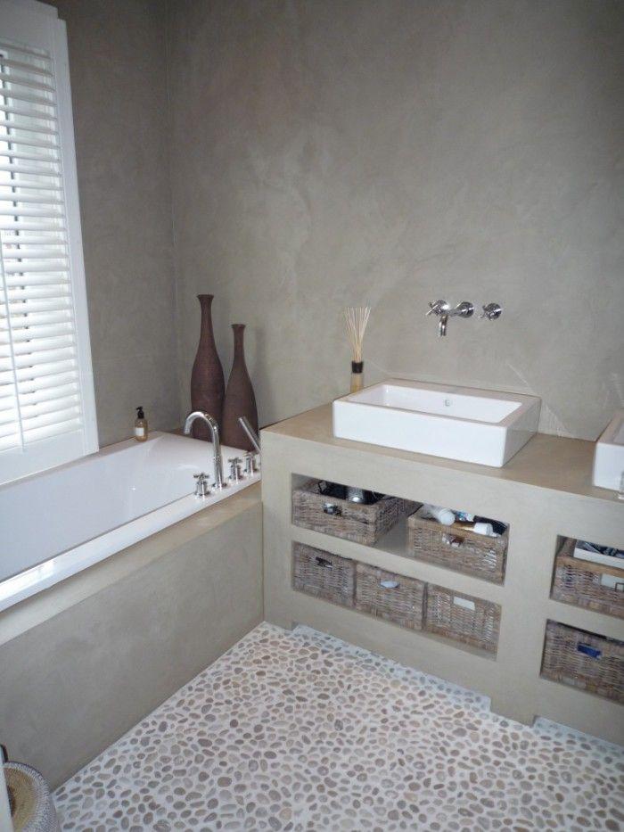 kiezelvloer in de badkamer - google search - bathroom | pinterest, Badkamer