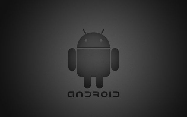 Pin On Android Black wallpaper android logo