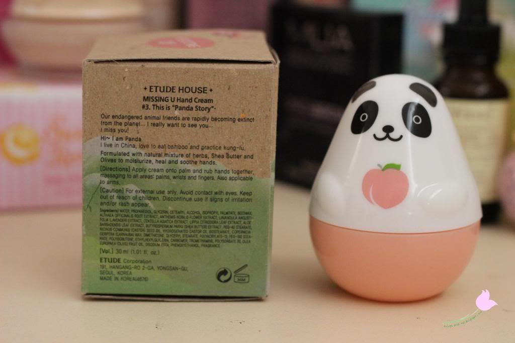 Kawaii Beauty Corner: Etude House - Missing U Panda Hand Cream