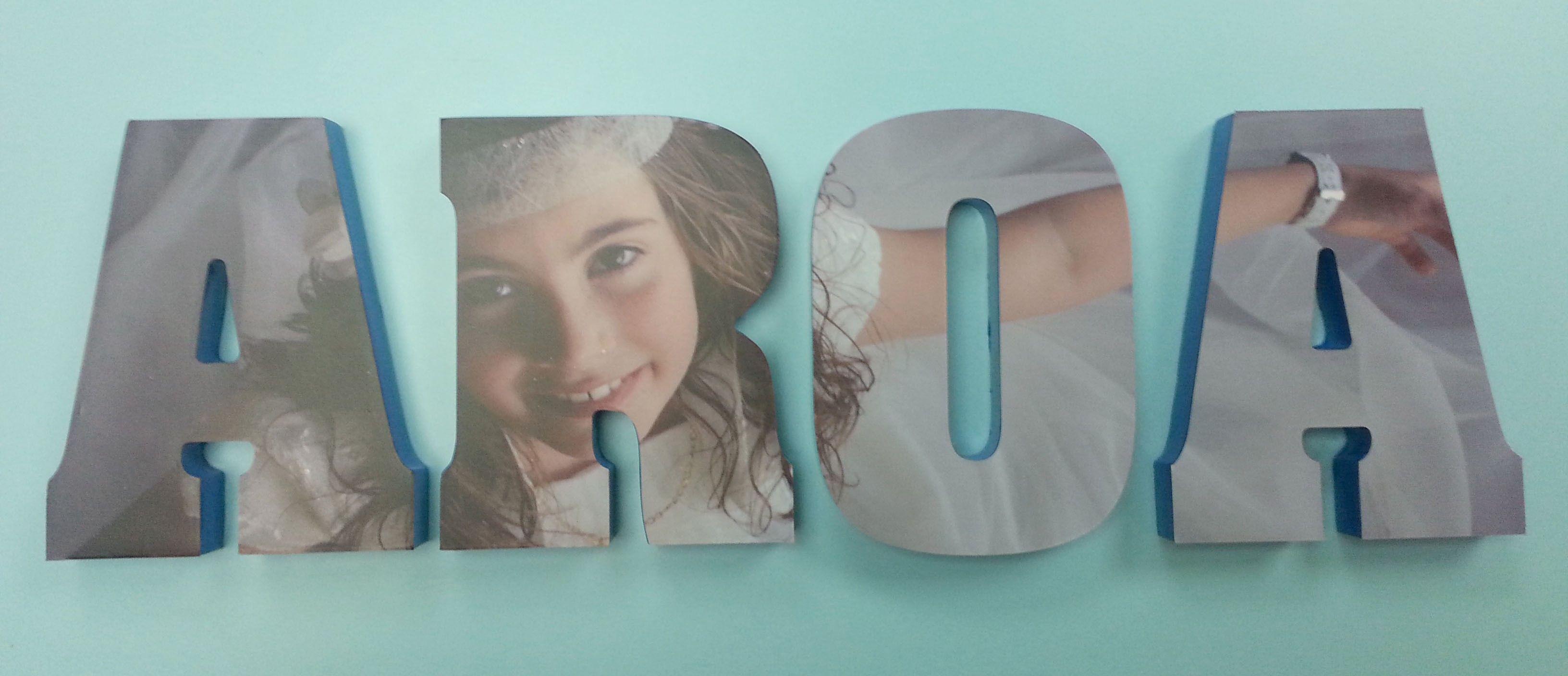 Letras decorativas con el recuerdo de su primera comuni n - Letras decorativas para ninos ...