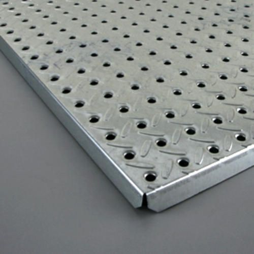 16 In X 48 In Heavyweight Diamond Plate Steel Pegboard