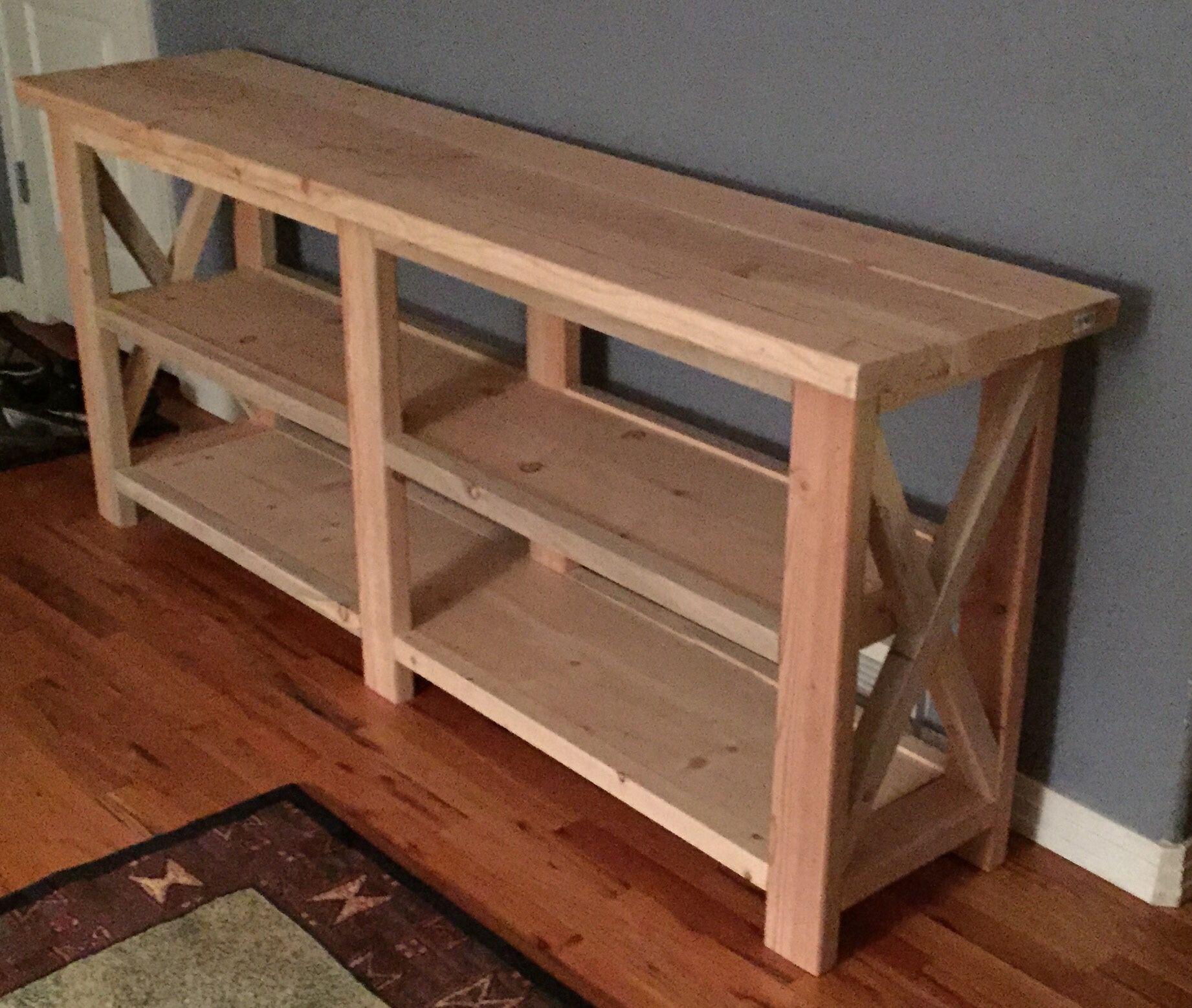 Diy Sofa Table Found On Shanty2chic Com Plans From Ana White Com With A Rustic Flair Ana White Diy Sofa Table Diy Sofa Table Homemade Sofa Rustic Sofa Tables