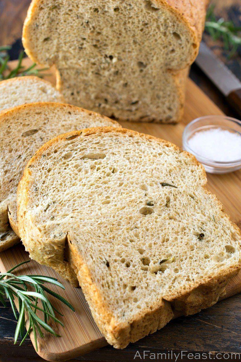 Rosemary Sea Salt Keto Bread Recipe Food Recipes Keto Bread