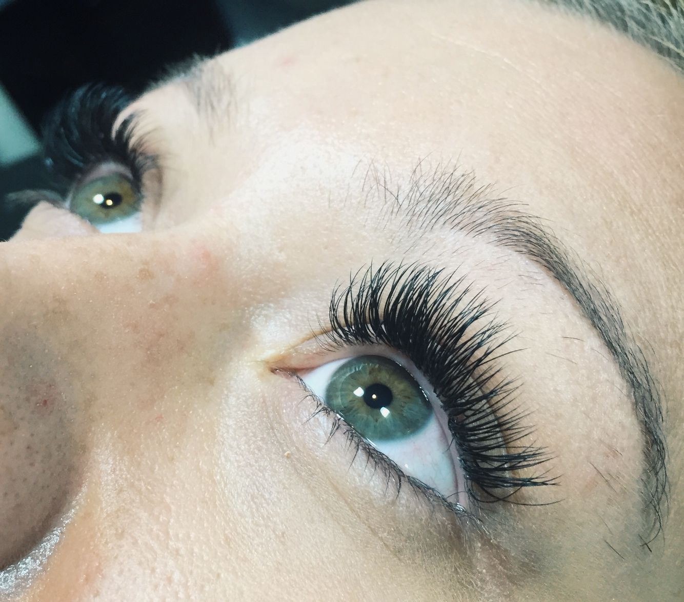 Classic glam eyelash extensions done by me using Lash