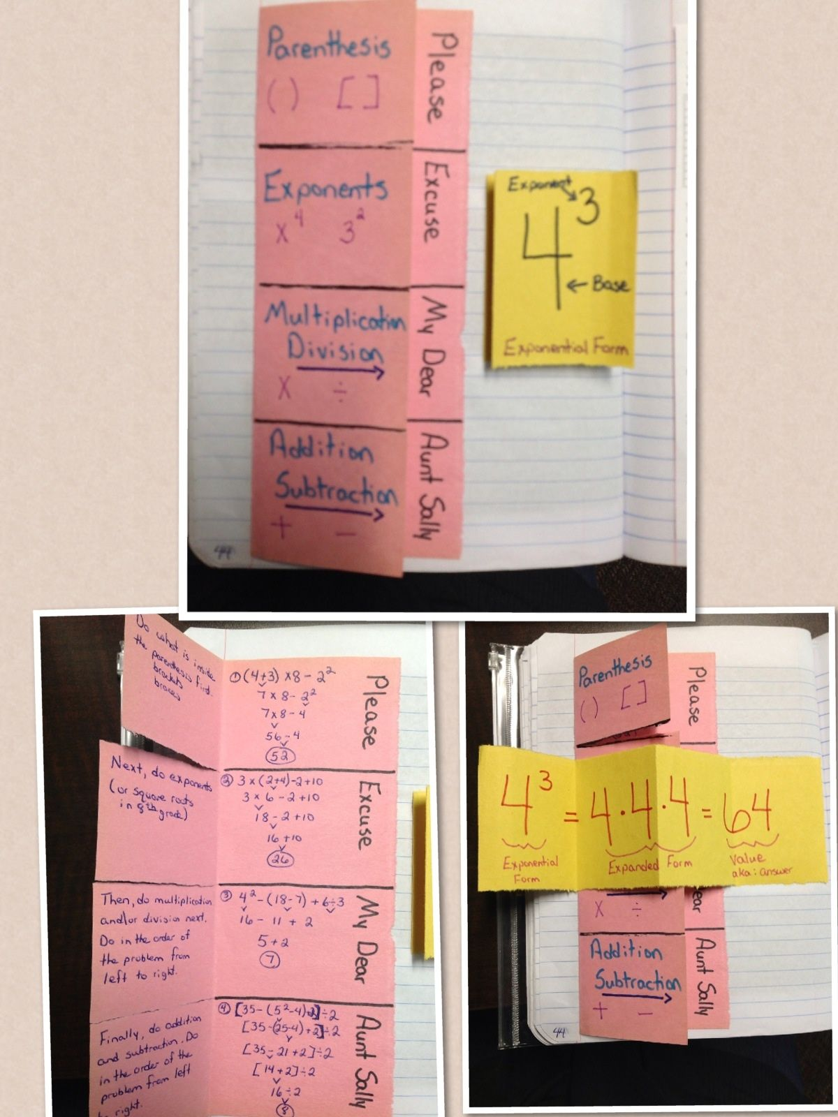 Order Of Operations Foldable Page 44