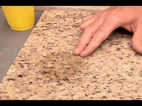 Granite Shorts S02e01 Removing Stains With A Homemade Poultice And Dupont Oil Stain Remover Youtube Stone Countertops Countertops Laminate Countertops