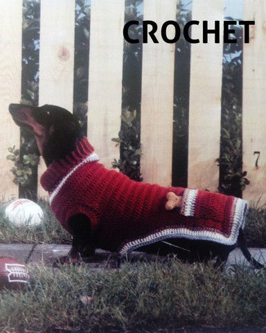 Crochet Sweater Pattern For The Doxie Lover Maggies Crochet All