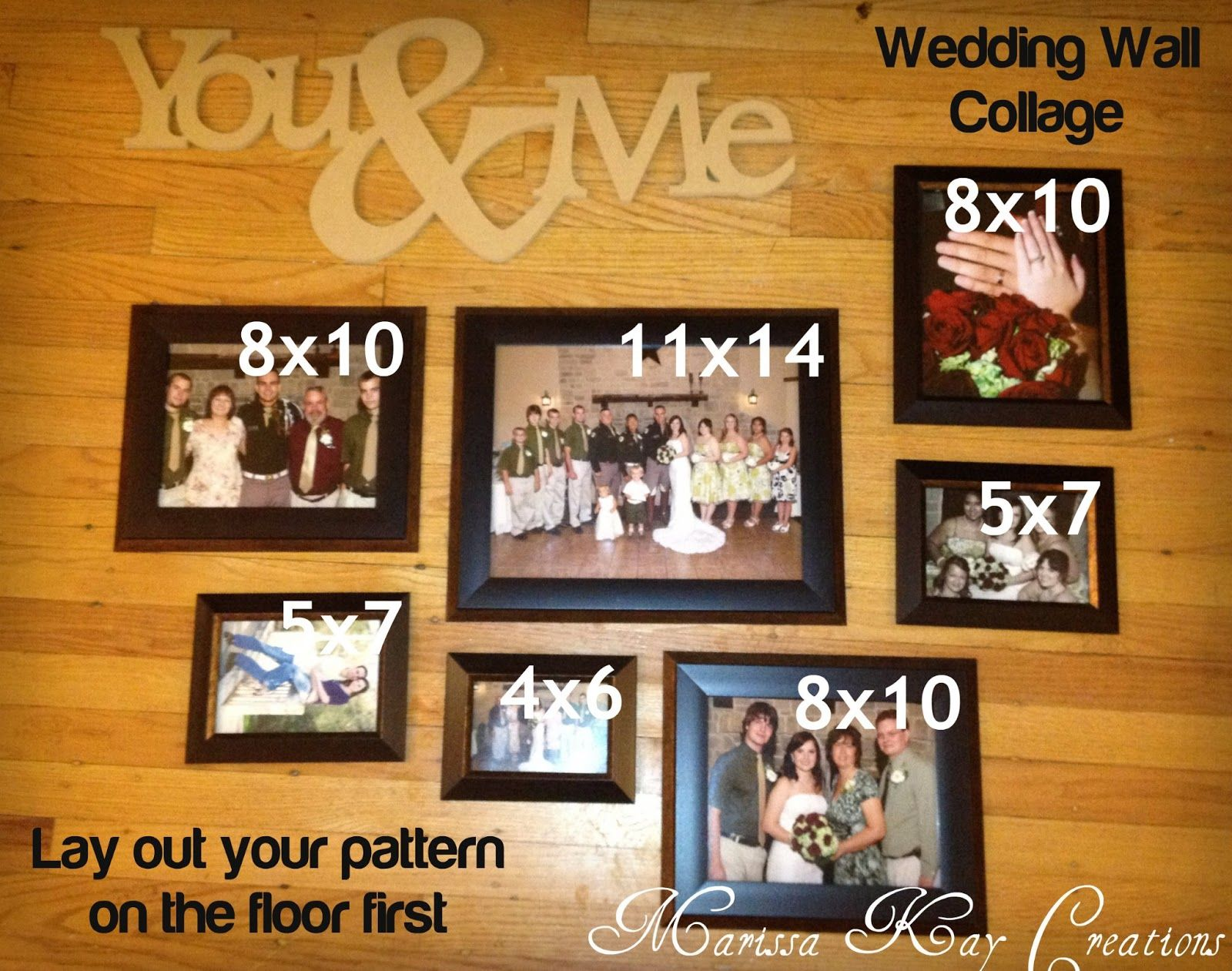 Marissa Kay Creations: Wedding Wall Collage
