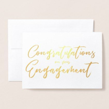 Beautiful Engagement Congratulation Foil Card Engagement - congratulation templates