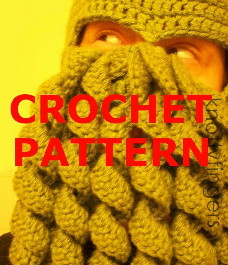 PATTERN - Crochet DIY Cthulhu Ski Mask (PDF Pattern Only). $5.00 ...