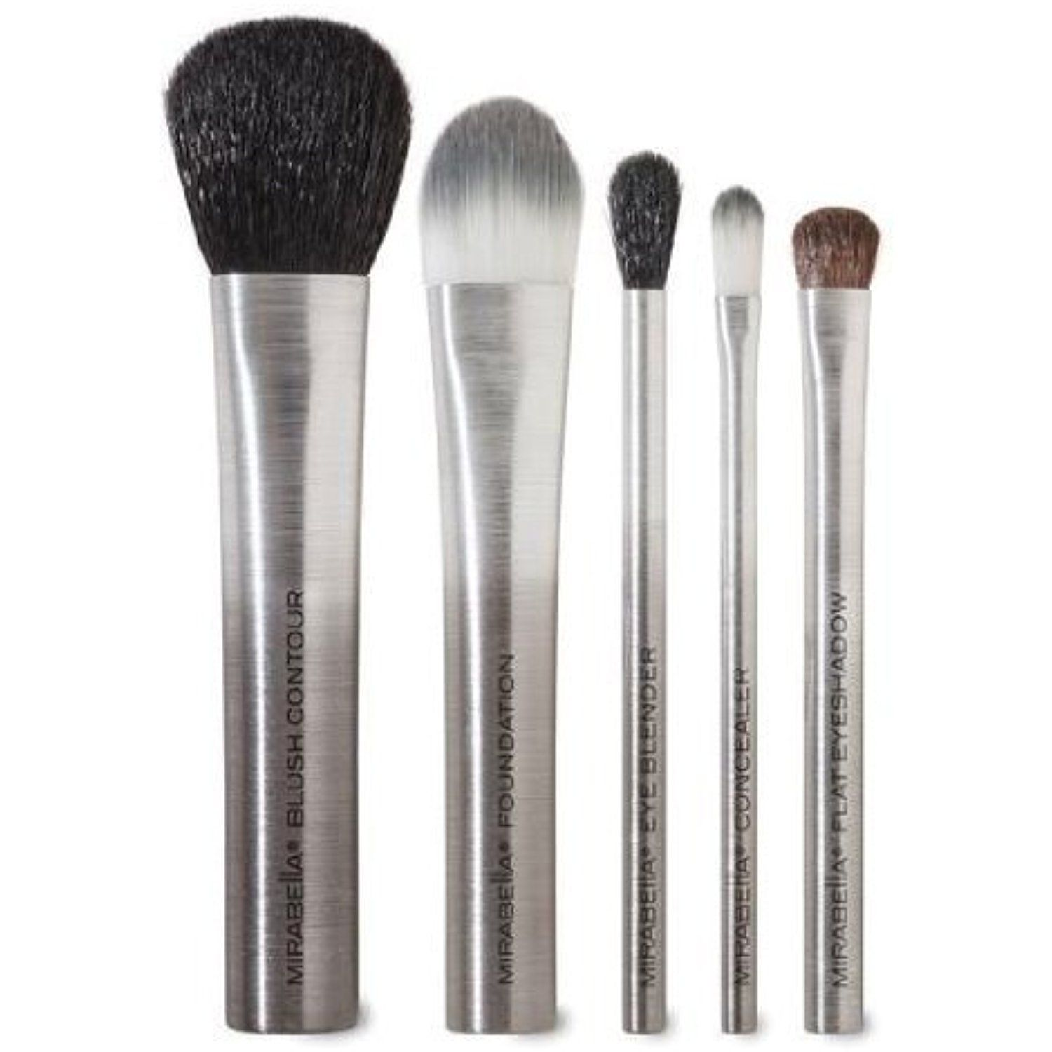Mirabella Travel Makeup Brush Set 5pc >>> You can get more
