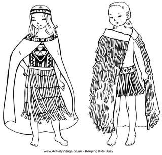 New Zealand Colouring Pages Waitangi Day Dance Coloring Pages