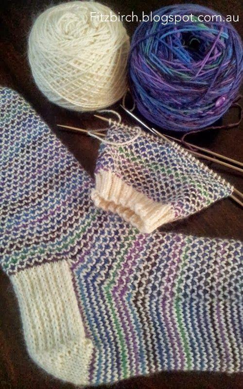 Photo of FitzBirch Crafts: Broken Seed Stitch (or Moss Stitch) Socks