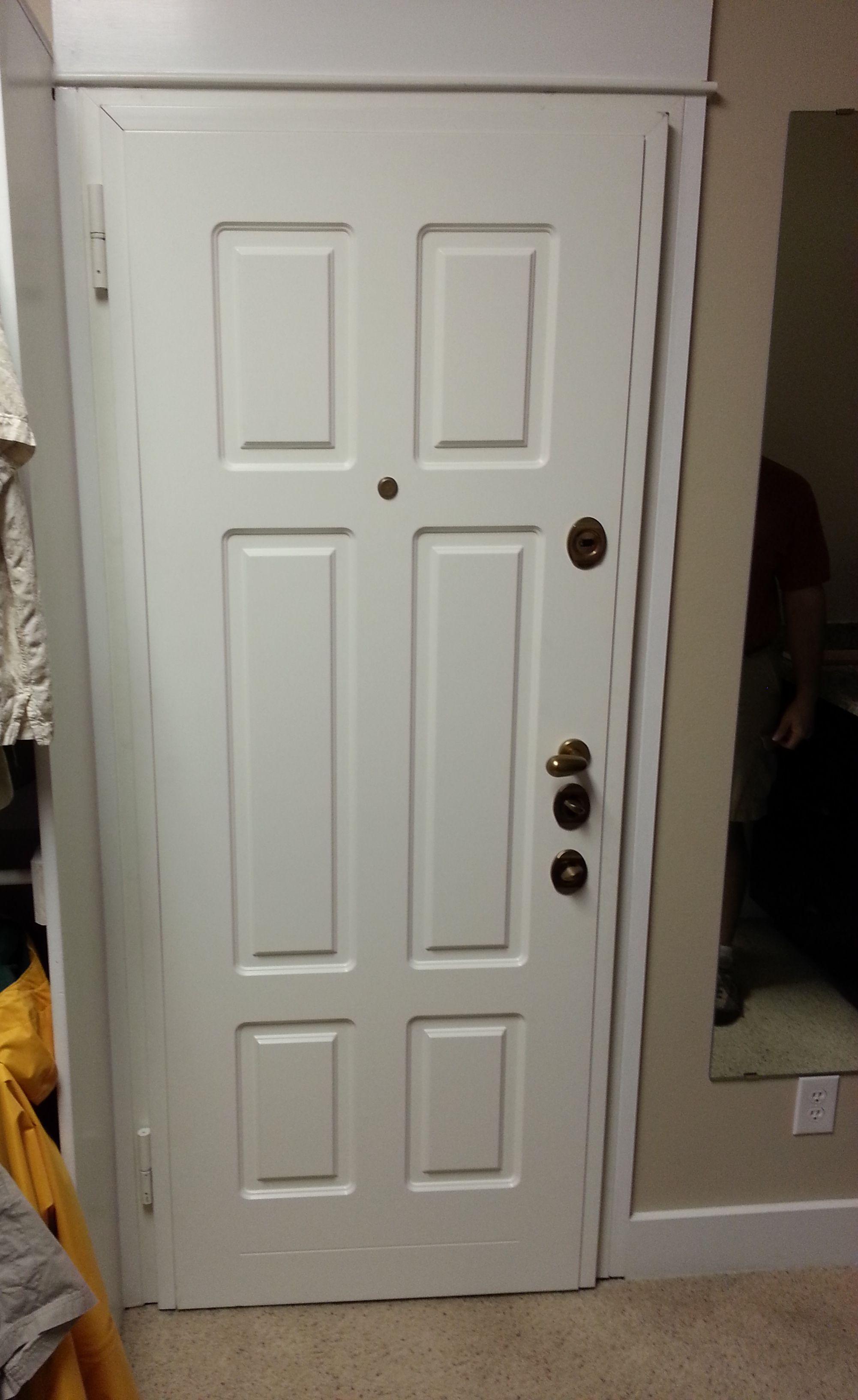 Superb Safe Room Closet Steel Security Door, Bathroom To Closet, MDF Panel.  Multi Point Locking System