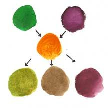 How Triad Colors Work Together Example Secondary Color Palette Of Green Orange Violet