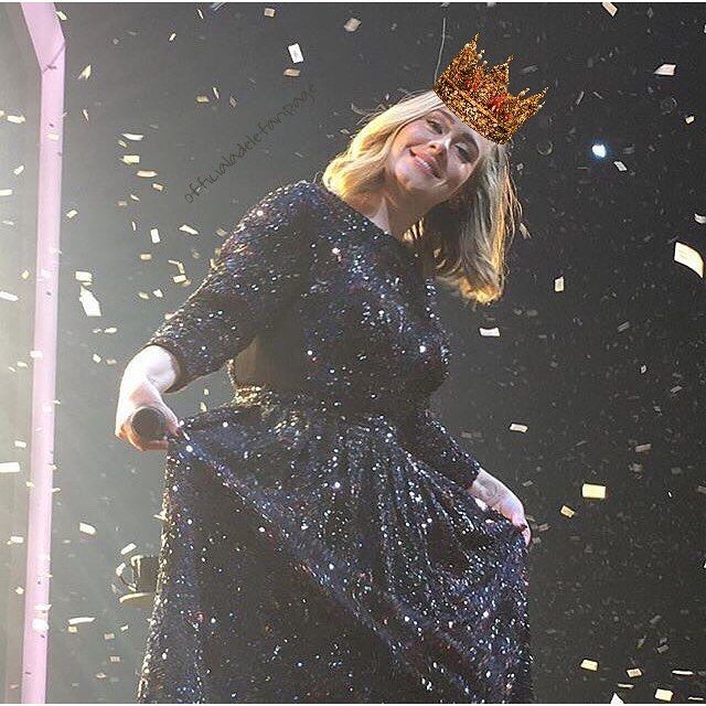 queen adele y'all  #adele #AdeleLive2016 ctto