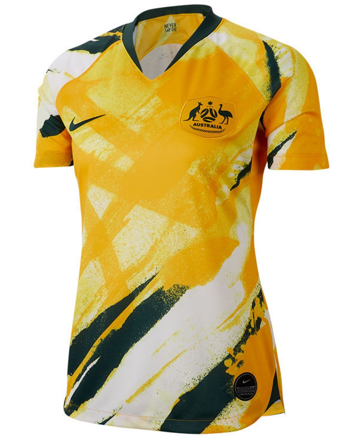 Nike Women S Australia National Team Women S World Cup Home Stadium Jersey White Gold Green Soccer Shirts World Cup Jerseys Wholesale Shirts