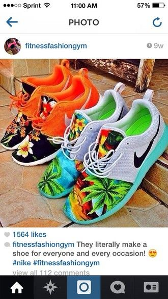 shoes nike floral sneakers mens shoes nike running shoes roshe runs palm  tree print roshes custom shoes custom roshe run custom sneakers nikes neon 37786ef87