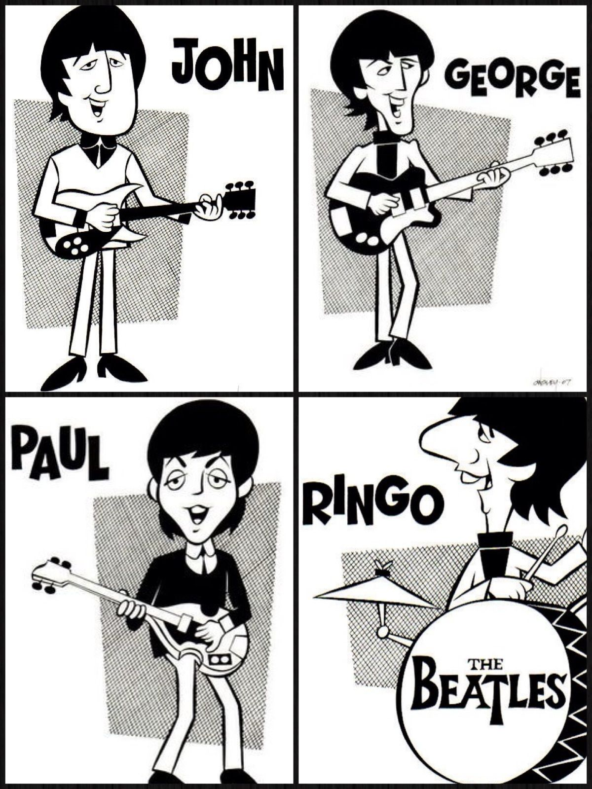 Pin By Oliver Ball Shagnasty On No Word S To Describe Beatles Cartoon Beatles Drawing The Beatles