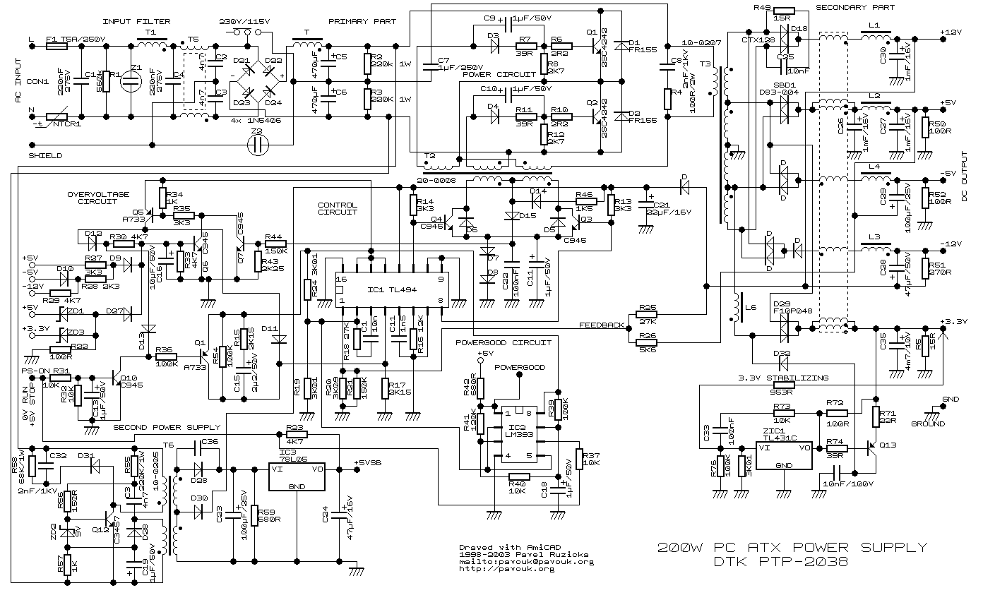 Schema zdroje Power Supply Circuit, Circuit Diagram, Crossword, Circuit  Design, Electric Circuit