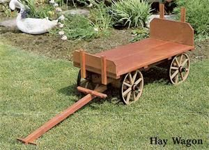 Amish Made Rustic Hay Wagon