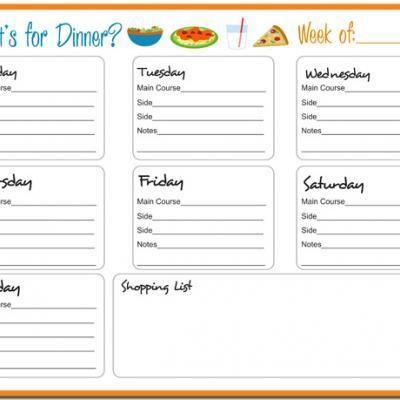 Weekly Meal Planner Printable  HttpPrintableTipjunkieCom