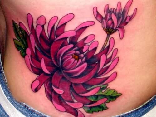 Chrysanthemum Tattoo In 2020 Japanese Flower Tattoo Chrysanthemum Tattoo Pink Flower Tattoos