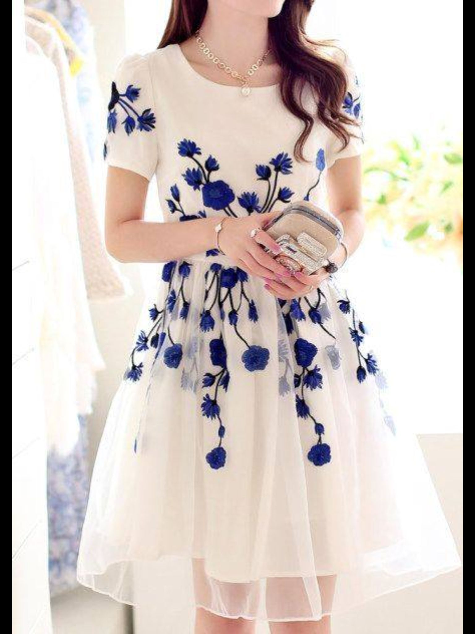 Pin by ms niesha on fashion pinterest nice clothes and clothing embroidery back zipper mid waist knee length dress women summer spring casual dress pretty romantic vintage chic in china blue and white perfect alice style izmirmasajfo