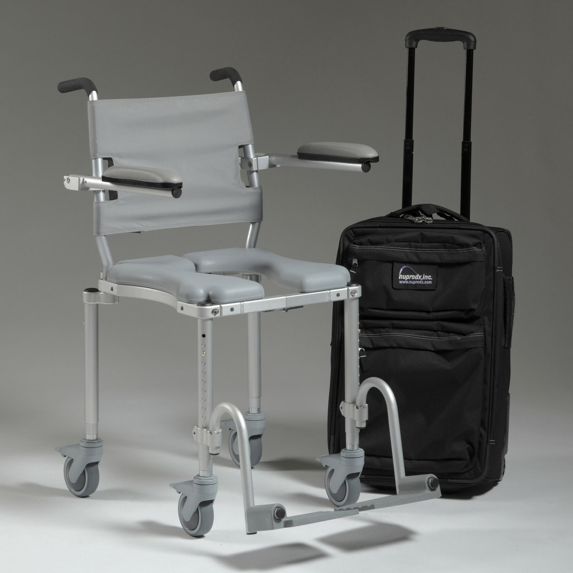 MultiChair 4000Tx Shower Chair With Wheels And Padded Seat