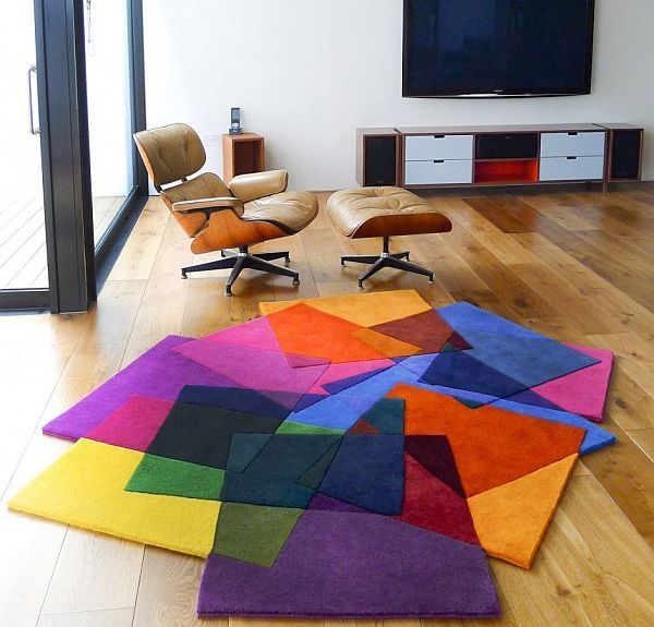 bright area rugs add a pop of color | modern rugs