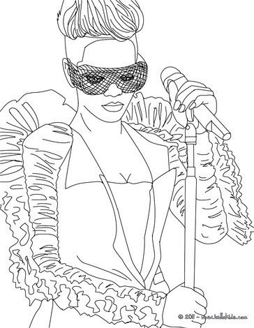 Rihanna Coloring Page More Singer Coloring Sheets On Hellokids