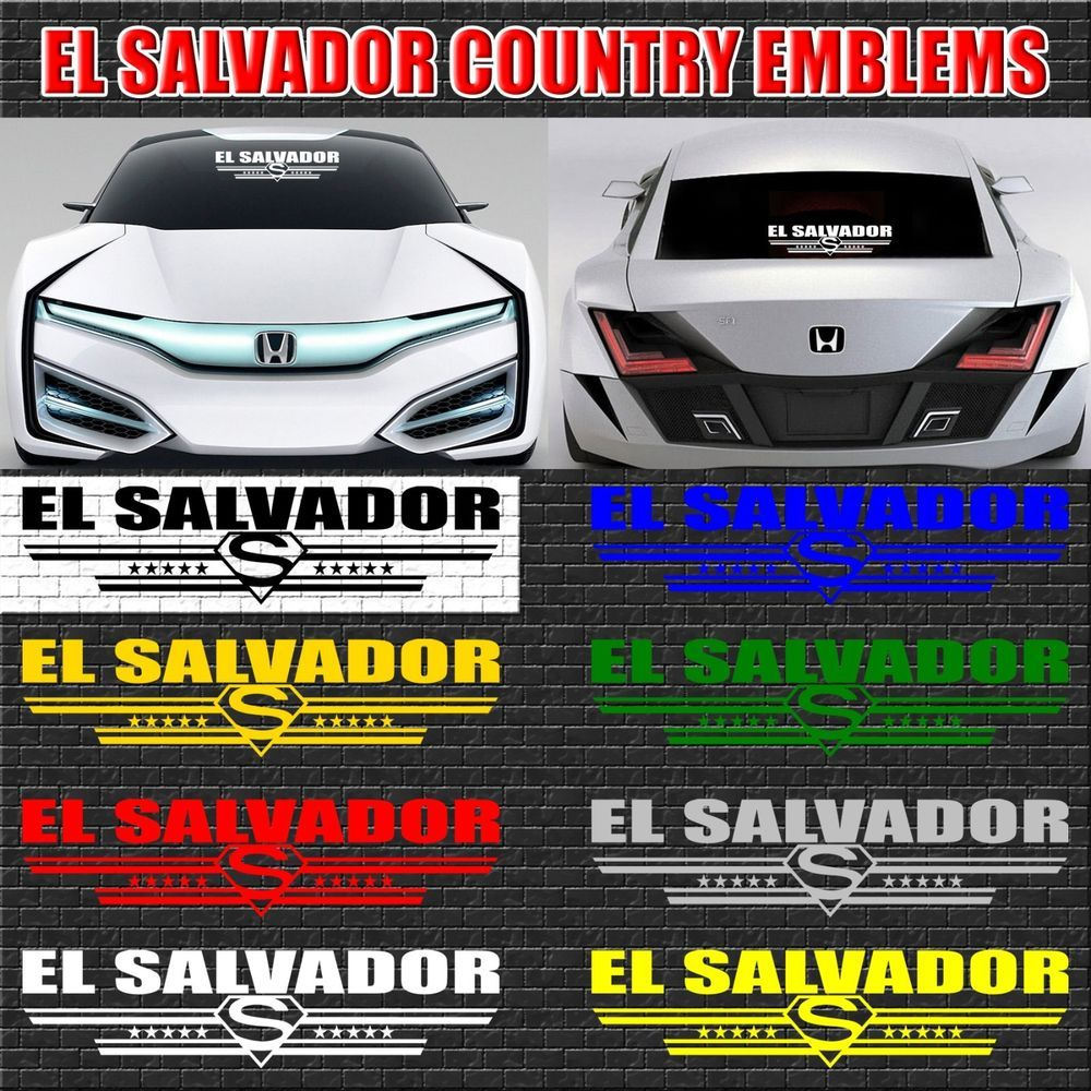 1x El Salvador Salvadoran Country Decal Sticker Car Truck Window 148 Cars Trucks Car Car Stickers [ 1000 x 1000 Pixel ]