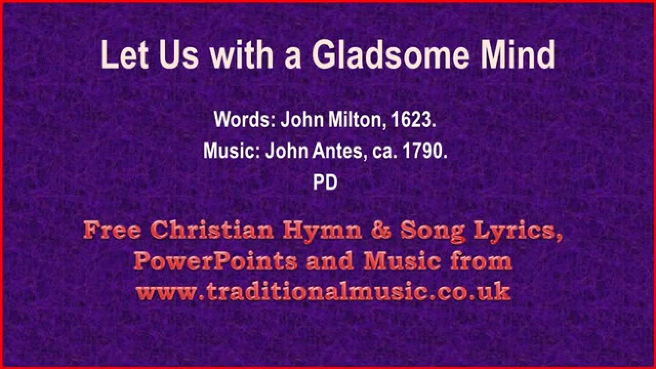 Let Us With A Gladsome Mind Lyrics & Music Christmas
