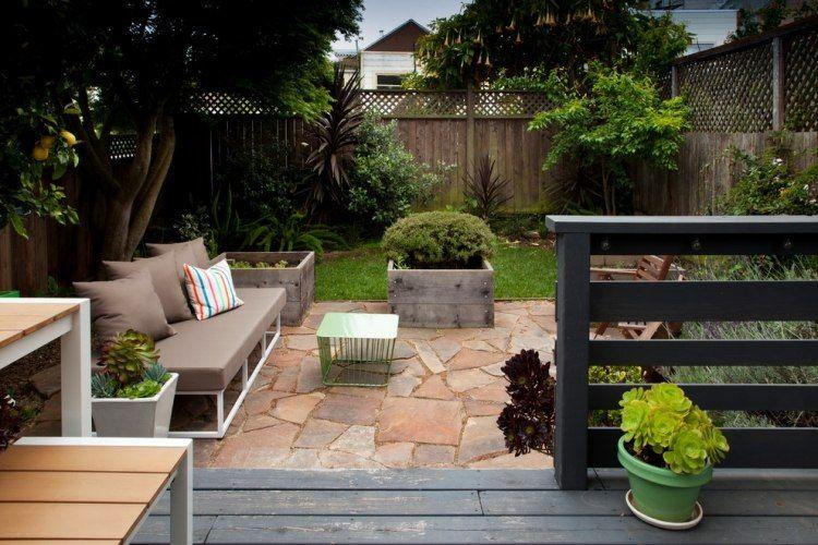 natursteinplatten als bodenbelag für die garten terrasse | pergola, Gartengerate ideen