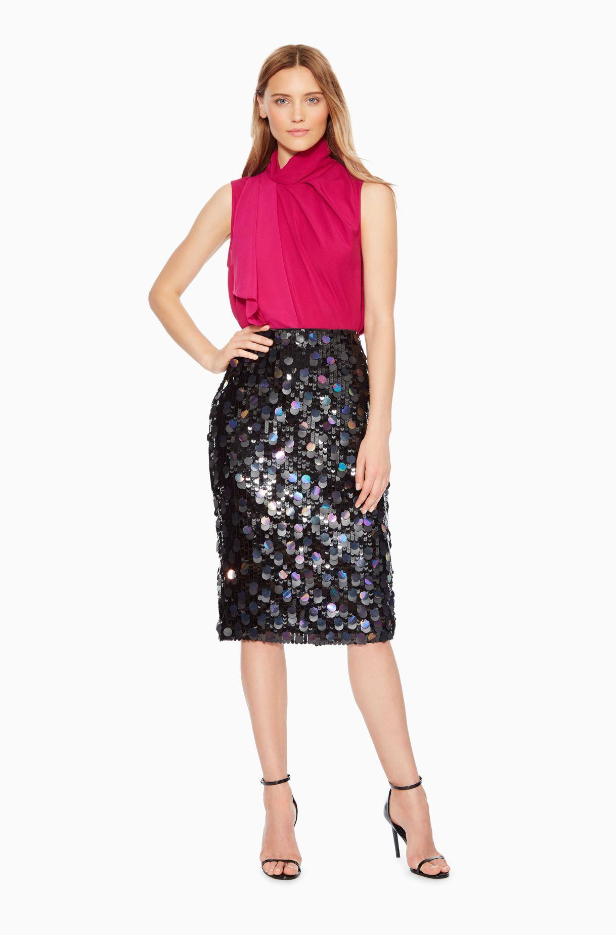 3c8f37749c Glenda Sequined Skirt