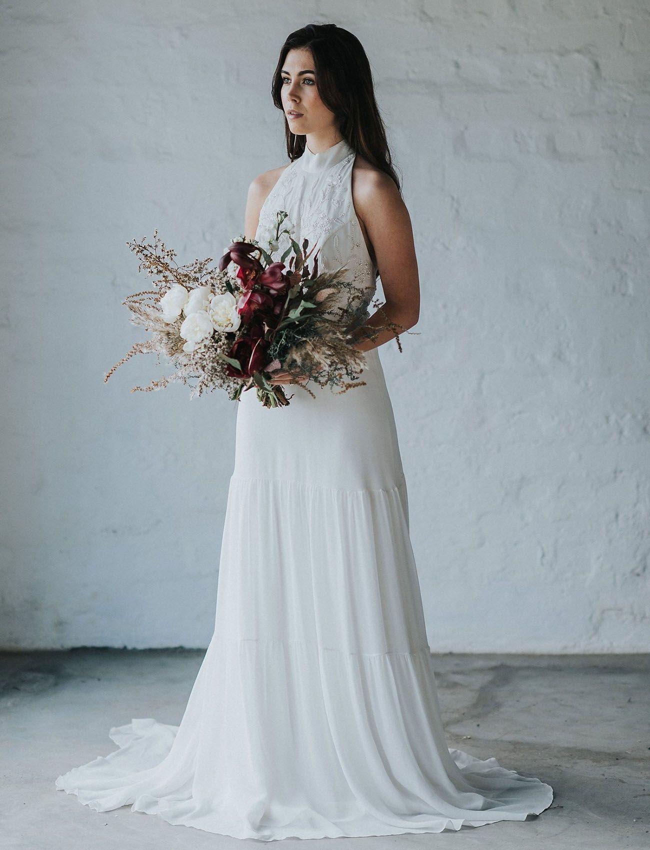 Wild Foliage Meets Watercolor Wedding Inspiration | Wedding dress ...