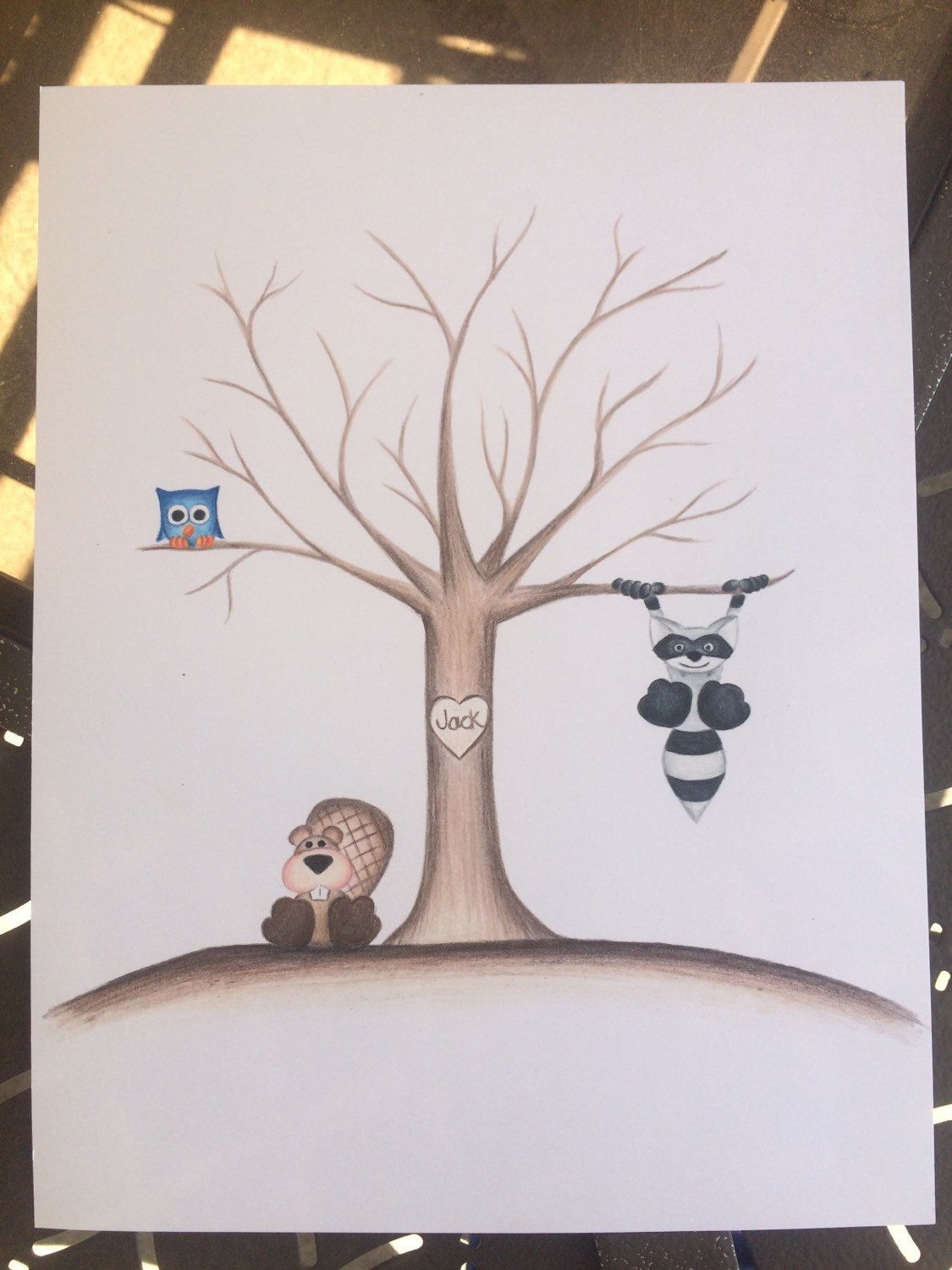 Baby Shower Tree Images ~ Thumb print tree guest book fingerprint
