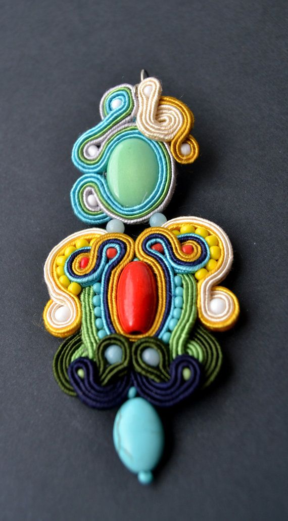 SOLD OUTBeautiful colorful earrings made by by AccessoriesAM, $60.91