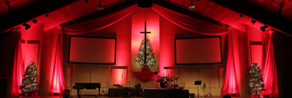 Draped-Christmas-Stage-Design