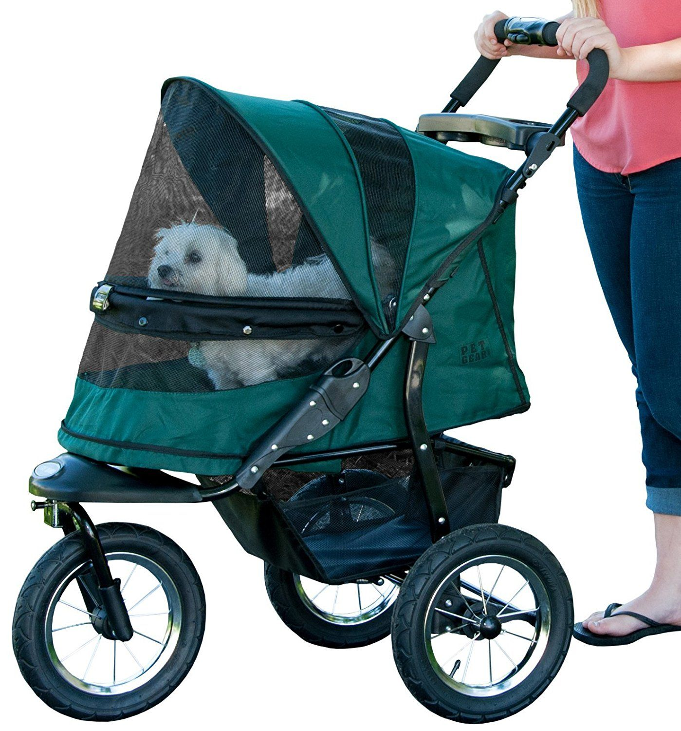 Pet Gear NoZip Jogger Pet Stroller, Zipperless Entry