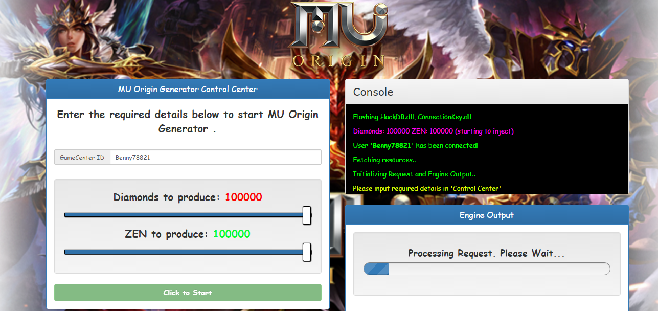 MU Origin Hack Generator Online Free cheat how to hack diamonds and