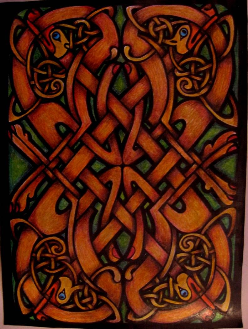 Amy Buell (18+ division) from Celtic Stained Glass Coloring Book ...