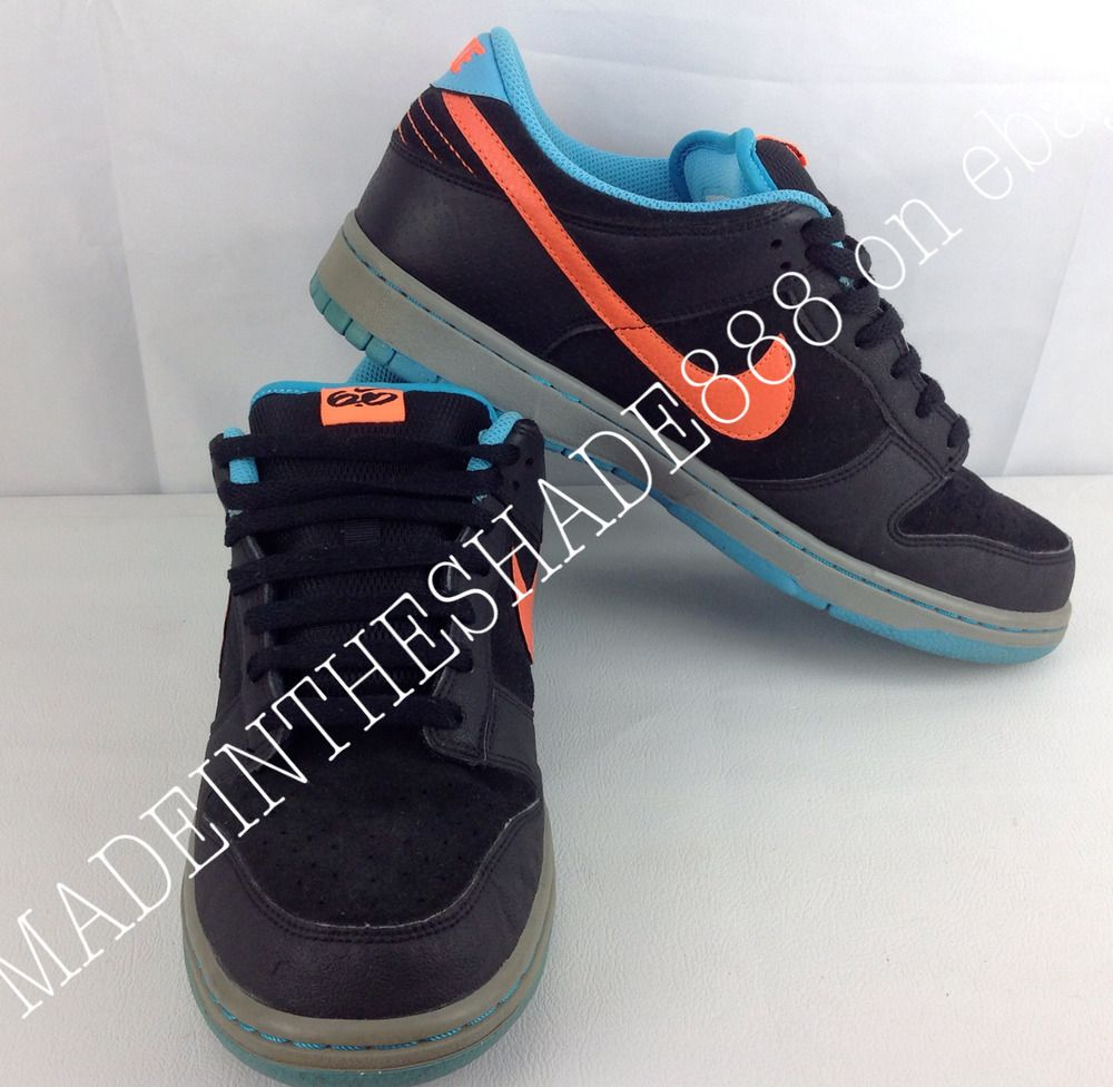 new product dbc0f b7d7c ... discount code for ds nike dunk low as skate shoe sb sneaker black orange  blue mens