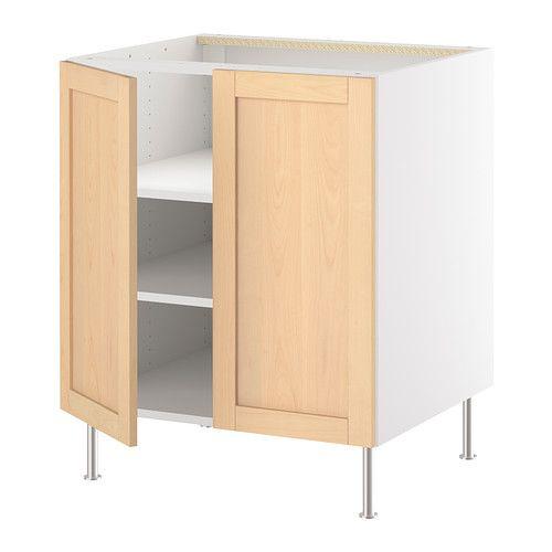 Interior Akurum Base Cabinet cabinet finish option orsa birch akurum base w shelf2 doors ikea you