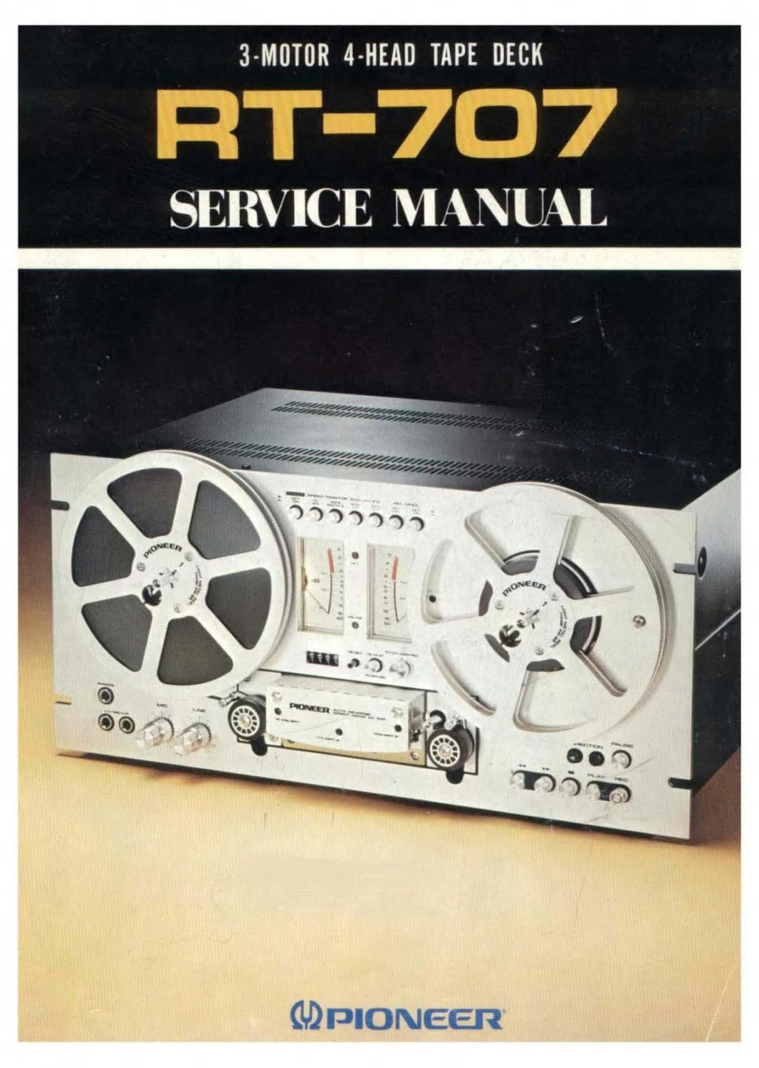 Pioneer RT-707 Service Owners Manual Schematics and More! - Instant Download  !!