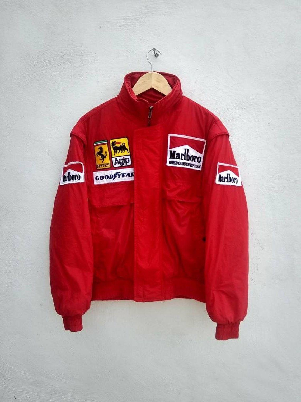 Vintage 80s Marlboro Jacket Embroidery Patches Rare Marlboro World Championship Team Marlboro Jacket Jackets Athletic Jacket